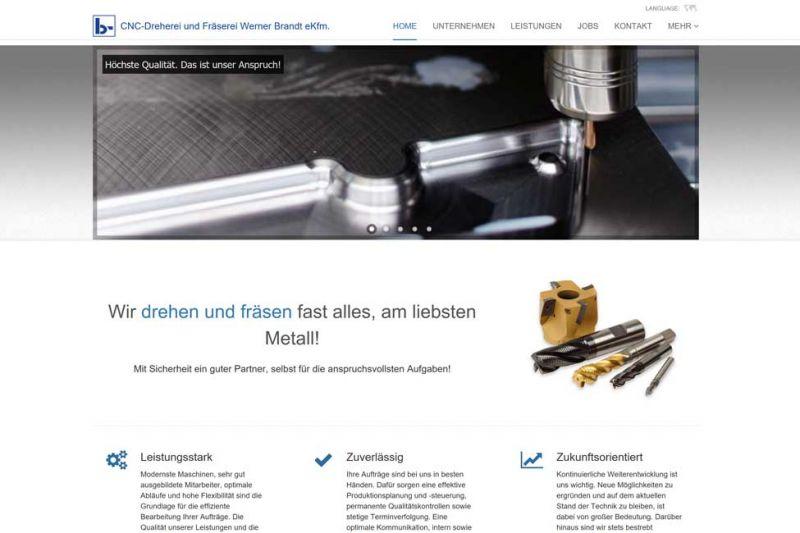 Screenshot unserer neuen Webseite