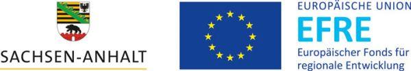 Logo des Bundeslandes Sachsen-Anhalt und des europäischen Fonds für regionale Entwicklung (EFRE)